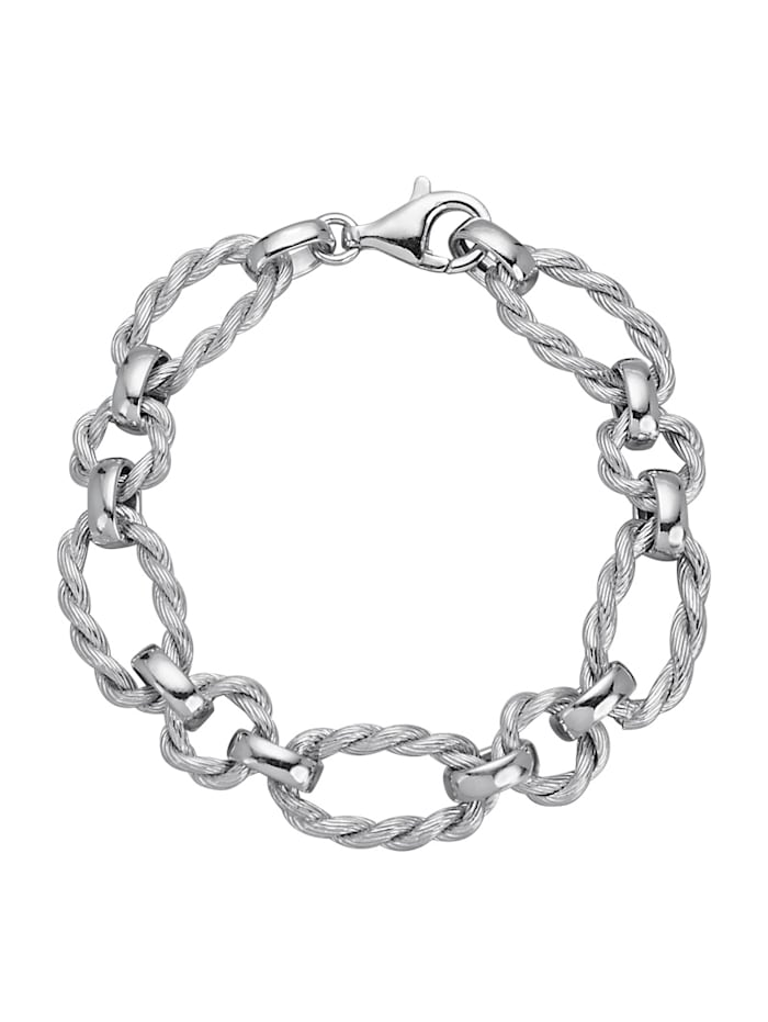 AMY VERMONT Armband in Kettenoptik, Silberfarben