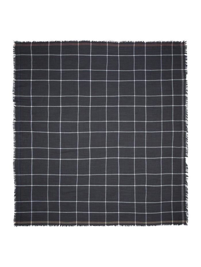 Premium Karo-Tuch aus feinster Wolle
