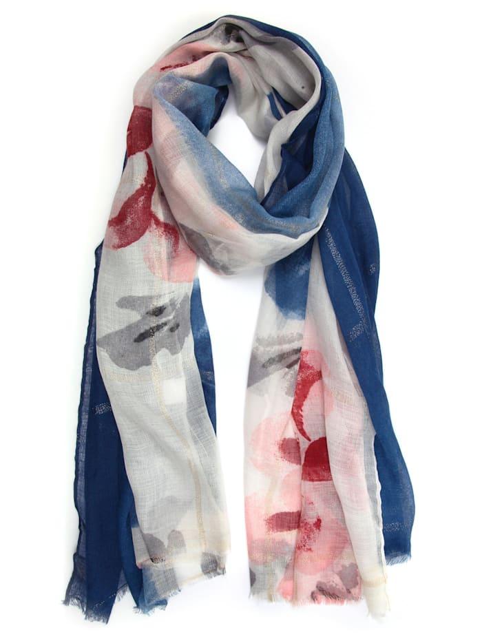 Collezione Alessandro Schal Padma mit floralem Muster, blau