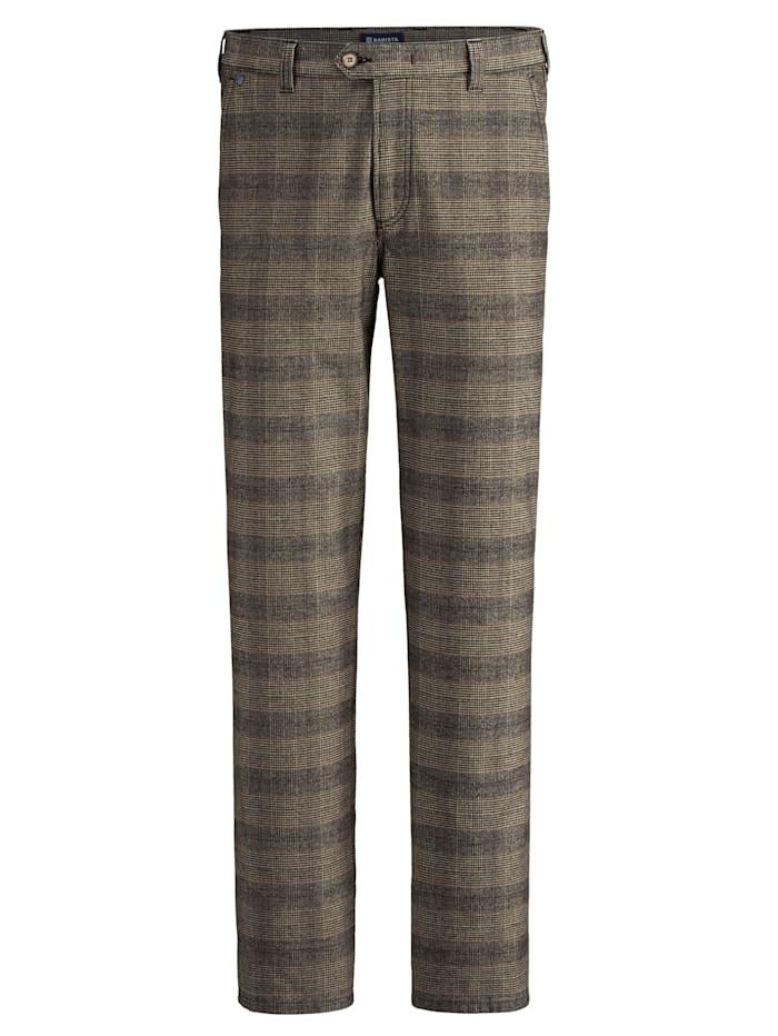BABISTA Pantalon d'aspect laine, Beige/Marron