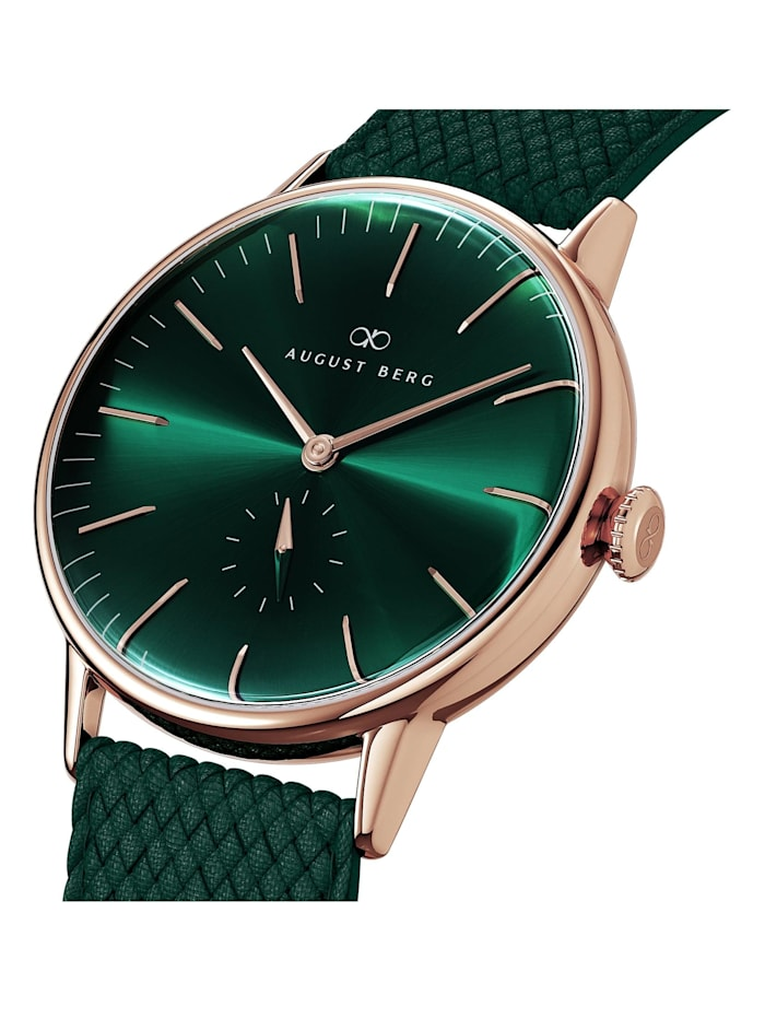 Uhr Serenity Greenhill Eye Dark Green Perlon 40mm