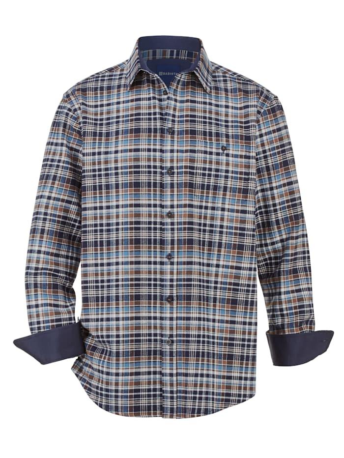 BABISTA Overhemd met 1 borstzak, Blauw/Wit