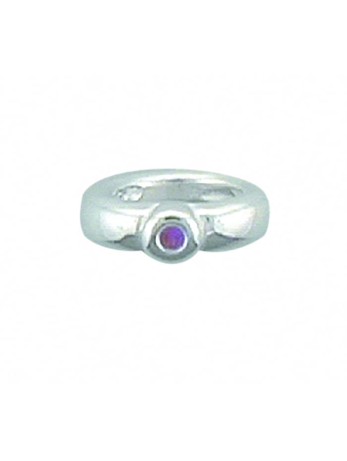 1001 Diamonds Damen Silberschmuck 925 Silber Anhänger Taufring mit synthetischer Rubin Ø 9,6 mm, rot