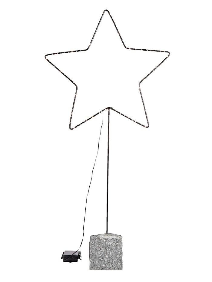 IMPRESSIONEN living LED Stern klein, schwarz-grau