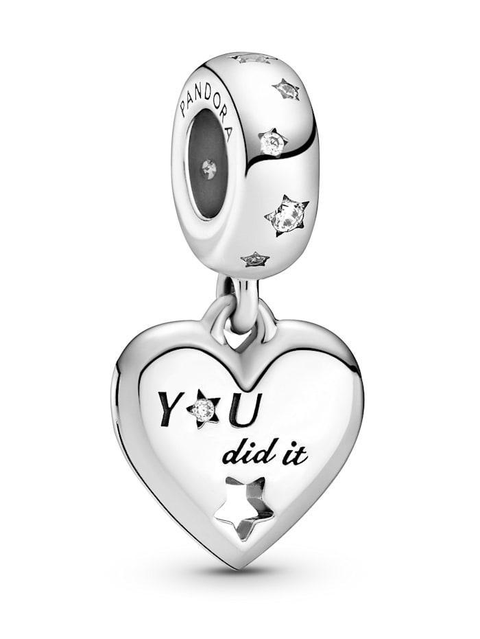 Pandora Charm-Anhänger - Herzlichen Glückwunsch Herzen & Sterne - 799323C01, Silberfarben