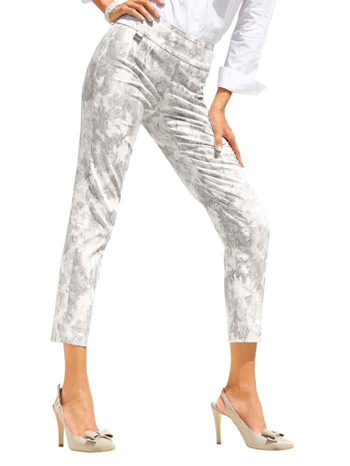 Lisette L. Shaping-broek met corrigerend effect, Lichtgrijs/Offwhite