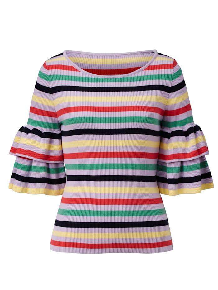 SIENNA Pullover mit Multicolor-Ringel, Lavendel