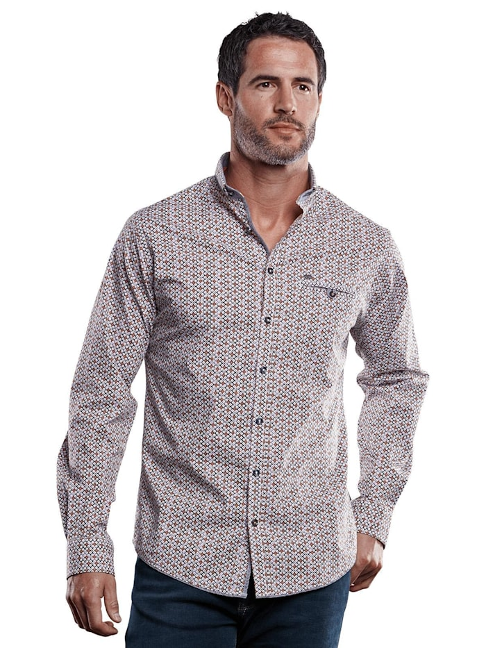 Engbers Hemd mit All-Over-Druck, Tieforange