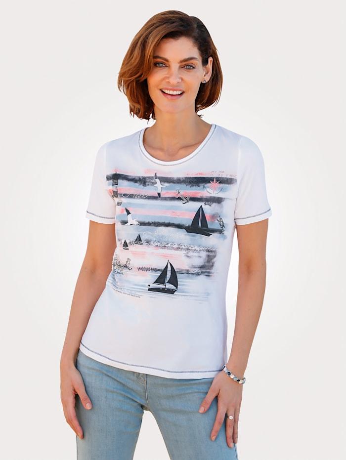 T-shirt à motif d'inspiration maritime