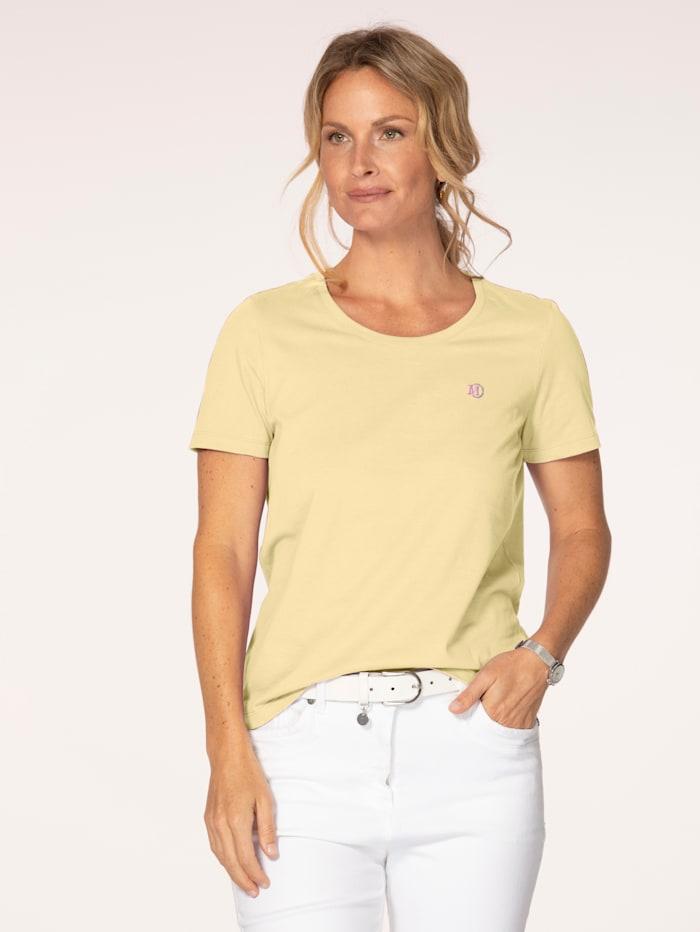MONA Shirt aus Cotton made in Africa, Hellgelb