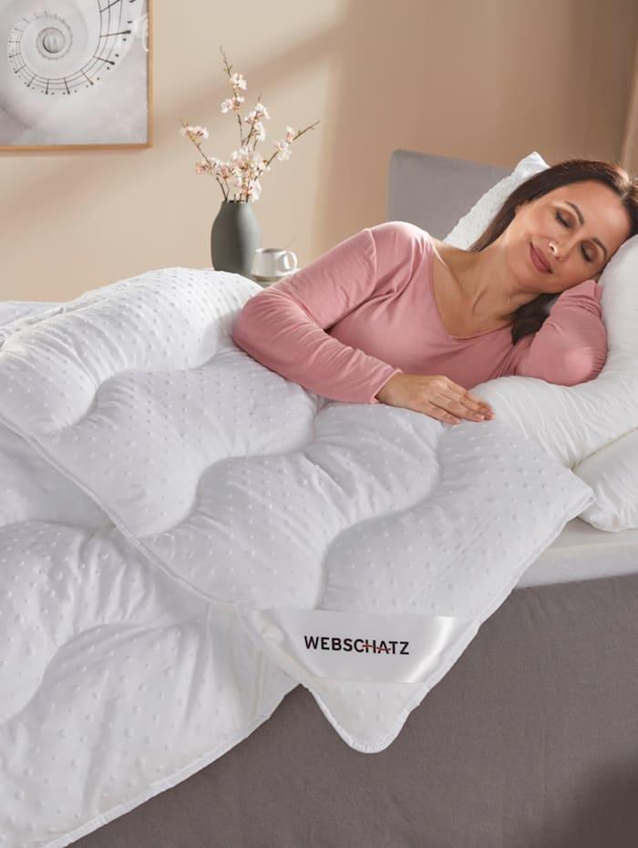 Webschatz Microfaser Bettenprogramm 3D Bläschen 'Yvi', Weiß