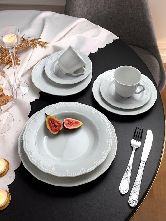 Creatable Middagsservise -Gloria- i 12 deler, hvit