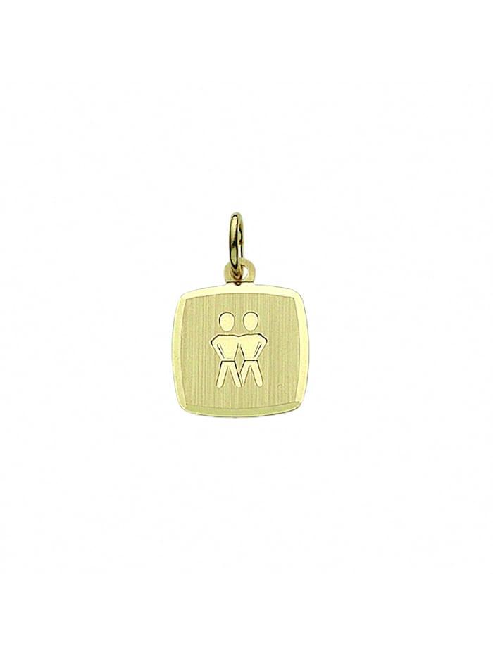 1001 Diamonds Damen & Herren Goldschmuck 333 Gold Sternzeichen Anhänger Zwilling, gold