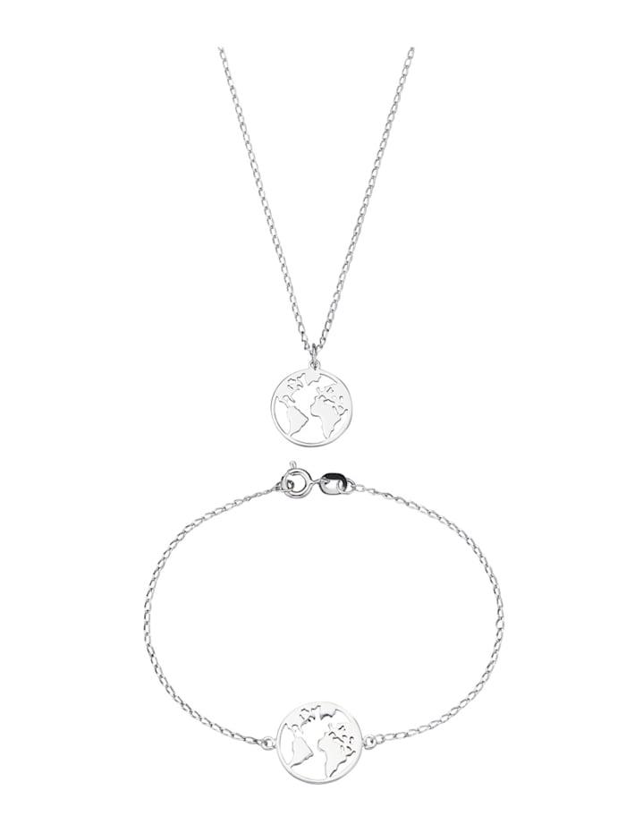 AMY VERMONT 2-delige sieradenset van zilver, Zilverkleur