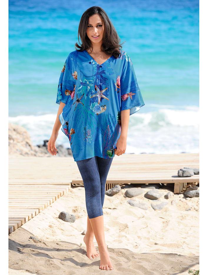Strandshirt mit Unterwassermotiven