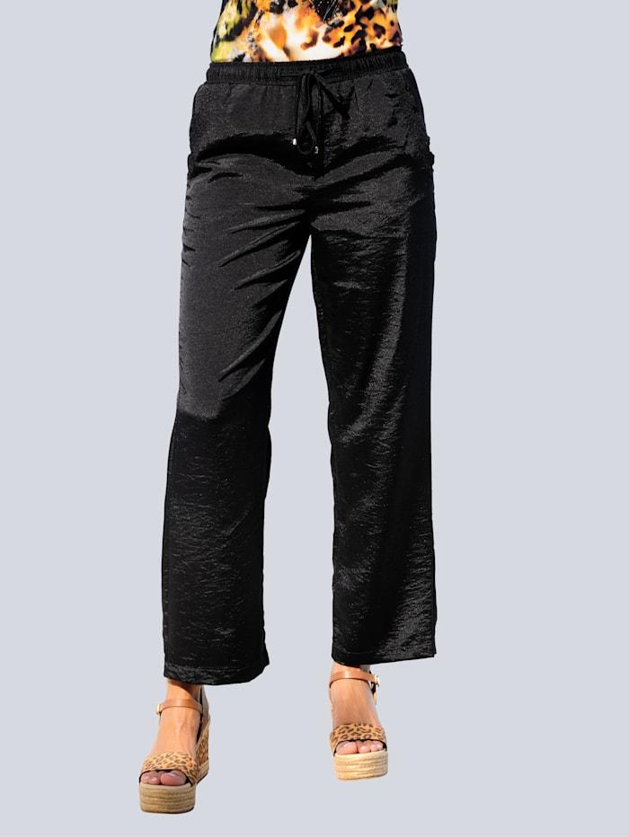 Alba Moda Strandhose aus leicht glänzender Webware, Schwarz