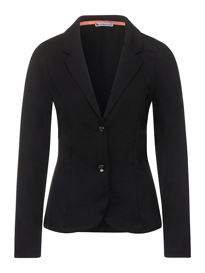 Street One Business Blazer in Unifarbe, Black