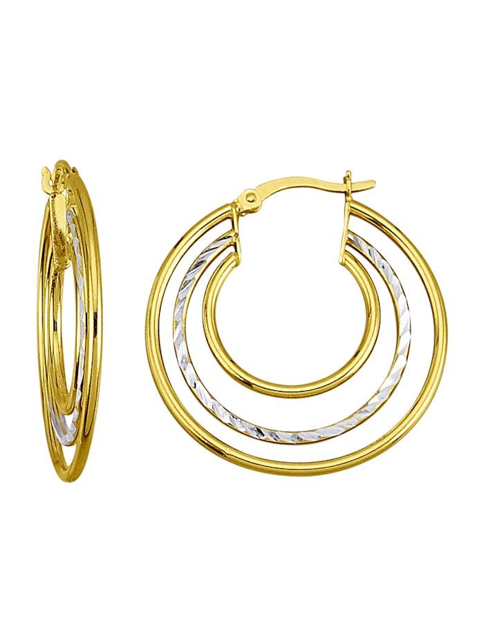 Øreringer i sølv 925, Gullfarget