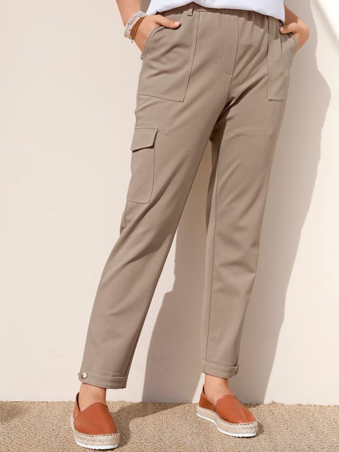 MIAMODA Hose mit aufgesetzter Tasche am Bein, Beige