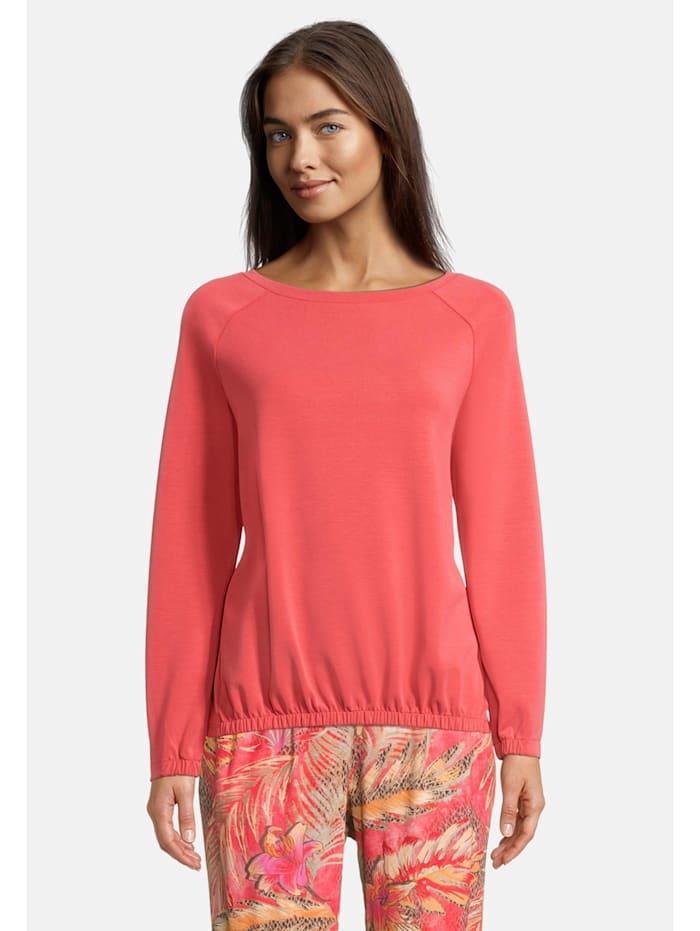 Betty Barclay Sweatshirt mit U-Boot-Ausschnitt, Rot