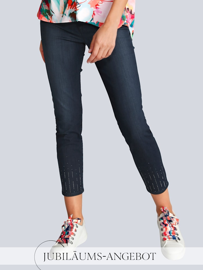 BRAX Jeans 'Ava S' im Alba Moda Exklusiv-Dessin, Dark blue
