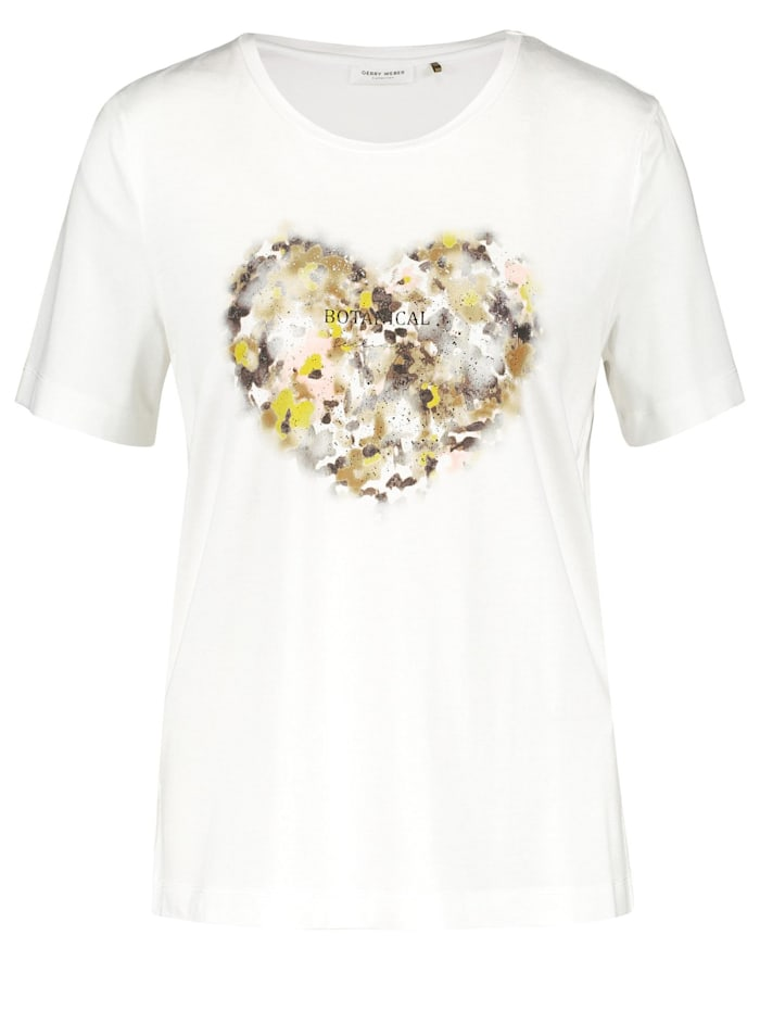Gerry Weber Shirt mit Blumenherz, Off-white