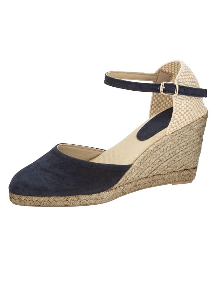 Sandaaltje in trendy espadrillelook, Marine