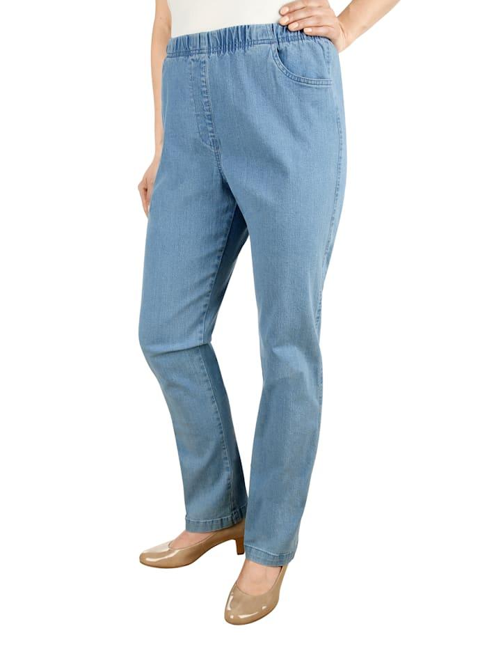 Paola Jeans met elastische band, Lichtblauw