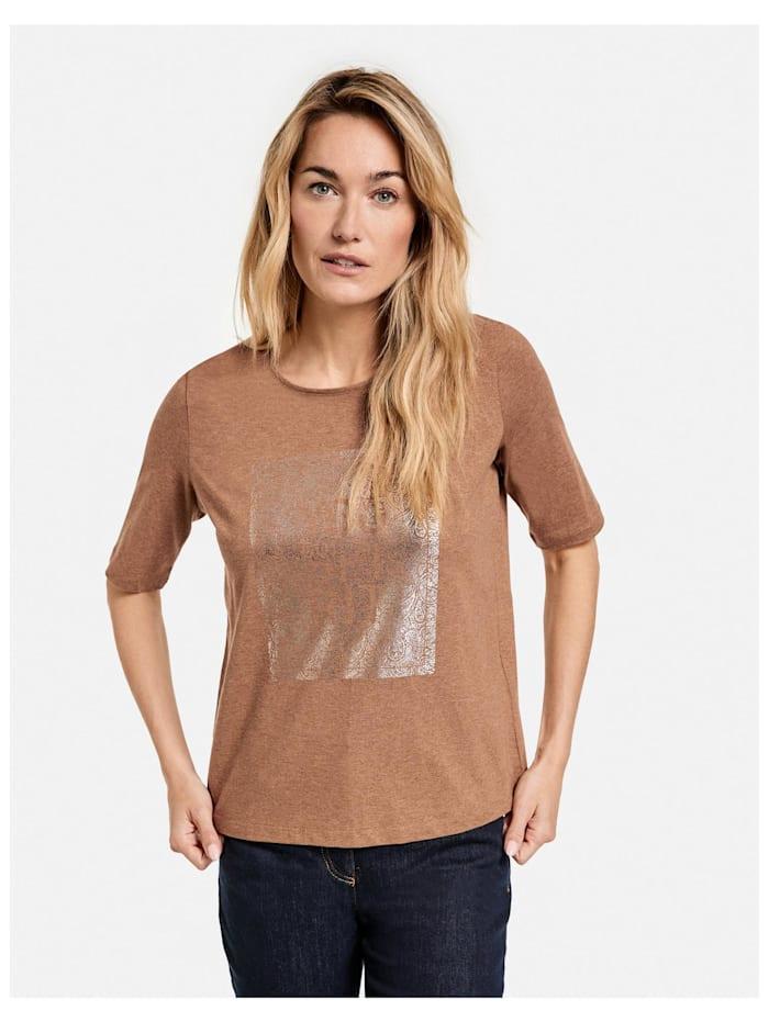 1/2 Arm Shirt mit Frontprint GOTS