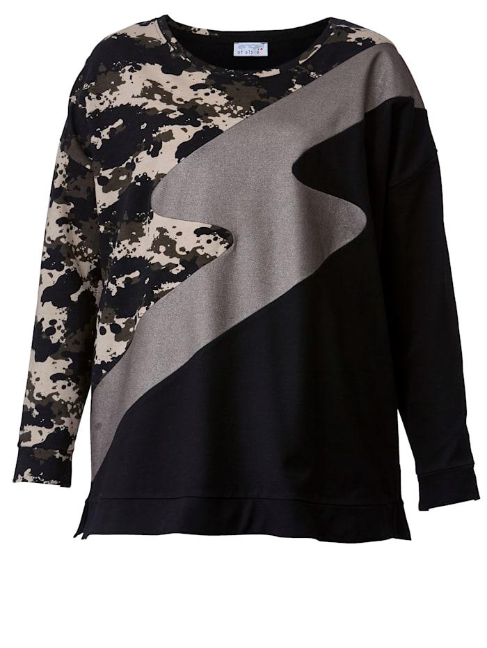 Sweatshirt in patchworklook