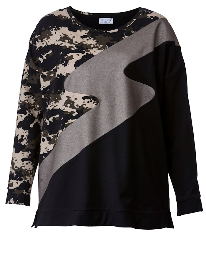 Sweatshirt in Patchoptik