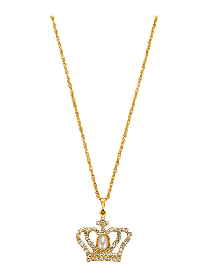 Golden Style Hanger Kroon met ketting, Geelgoudkleur