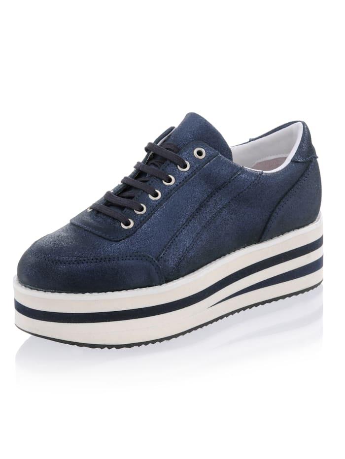 Alba Moda Sneaker mit hoher Plateausohle, Marineblau