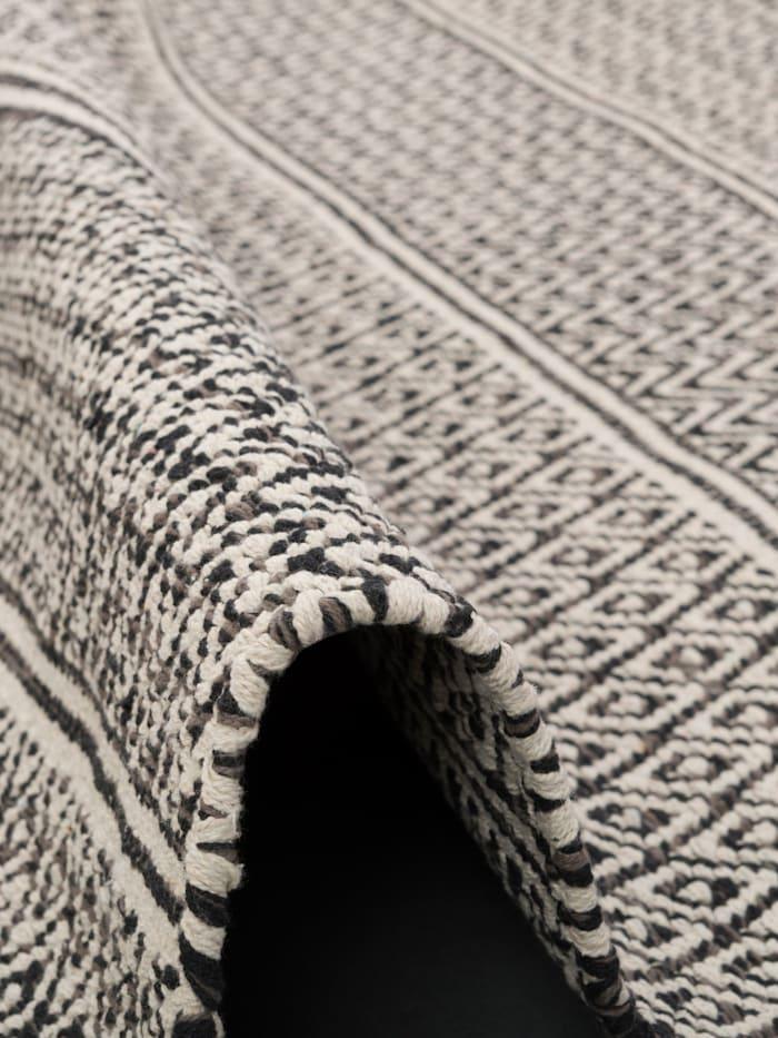 Baumwolle Natur Kelim Teppich Sandy Stripes
