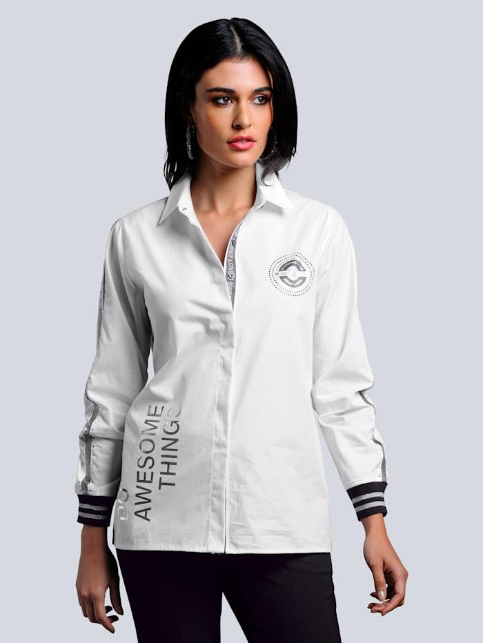 Alba Moda Bluse im exklusiven Dessin nur bei Alba Moda erhältlich, Weiß/Schwarz