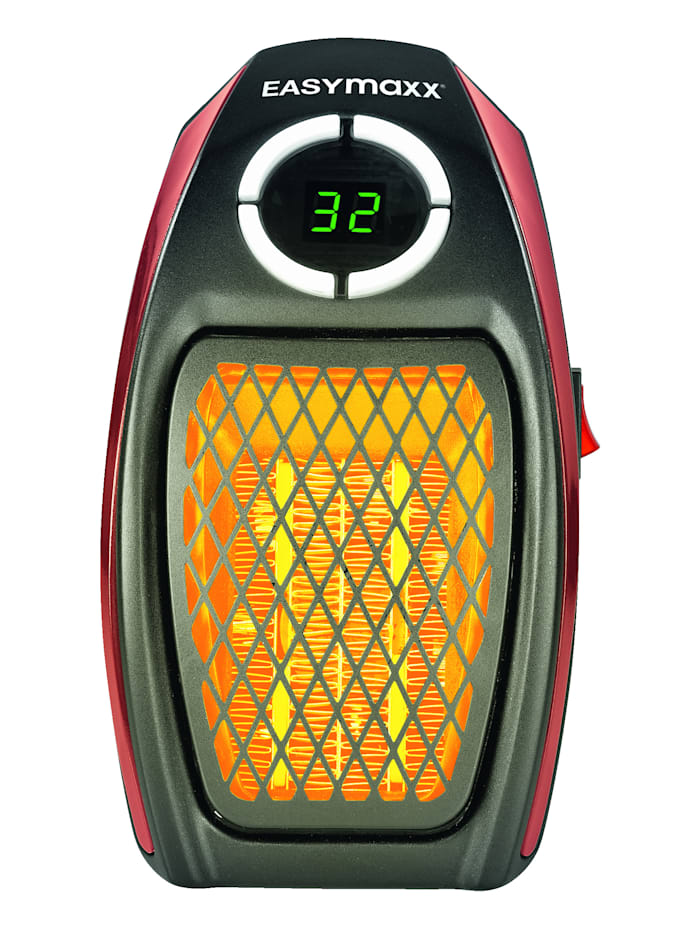 EASYmaxx Mini-heater, Zwart/rood