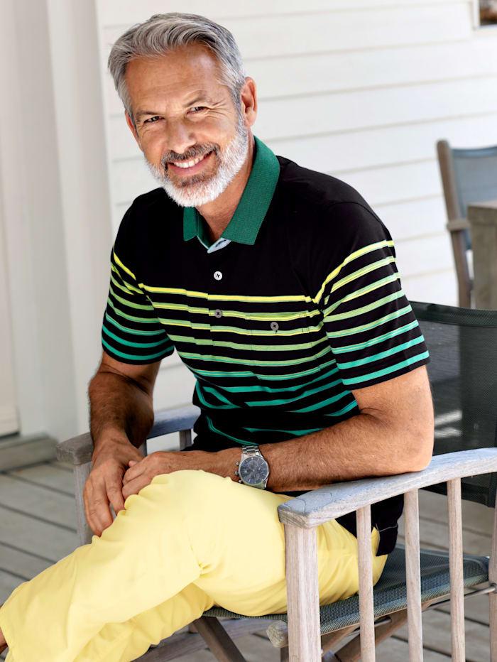 BABISTA Poloshirt luftdurchlässig und leicht, Schwarz/Grün