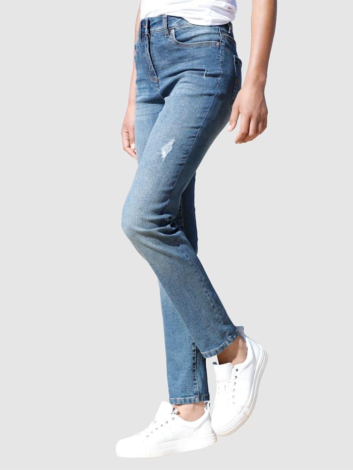 Dress In Jeans in Sabine Slim model, Blue stone