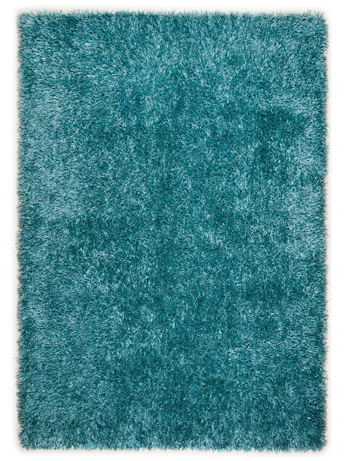 Theko®die Markenteppiche Hochflorteppich Peter, blau