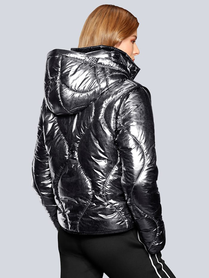 Steppjacke im Metallic-Look