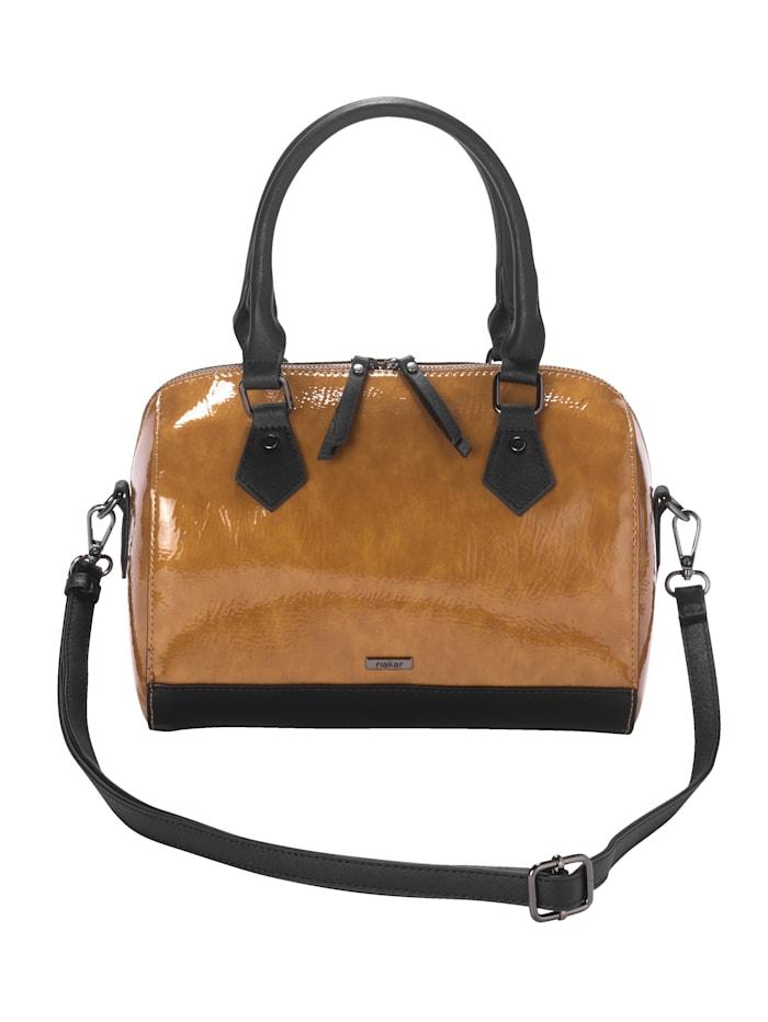 Rieker Handtasche aus hochwertigem Materialmix, Senfgelb