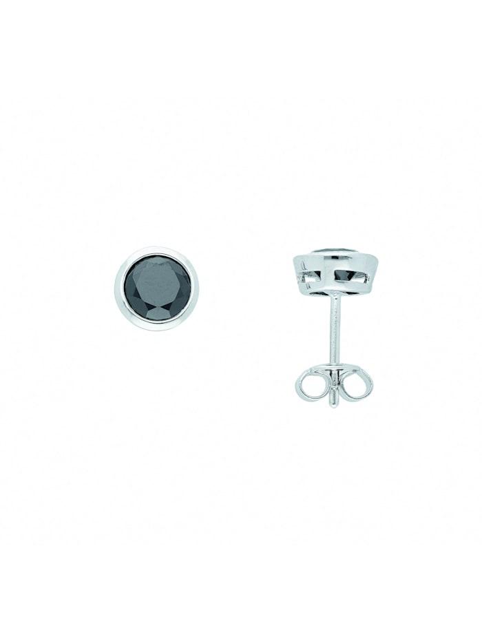 1001 Diamonds Damen Silberschmuck 925 Silber Ohrringe / Ohrstecker mit Zirkonia Ø 7,5 mm, bunt