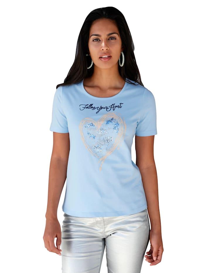 AMY VERMONT Shirt met borduursel, Lichtblauw