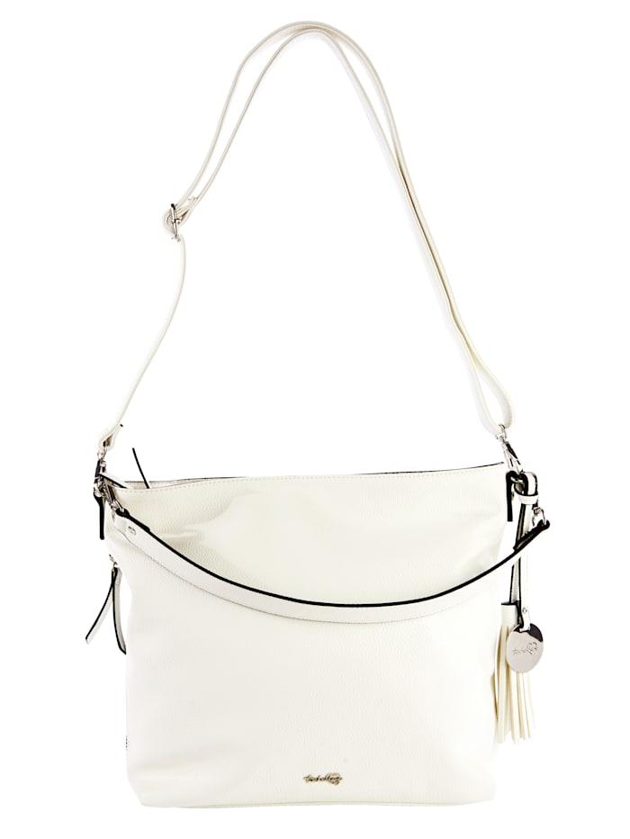 Taschenherz Shopper van hoogwaardig softmateriaal, wit