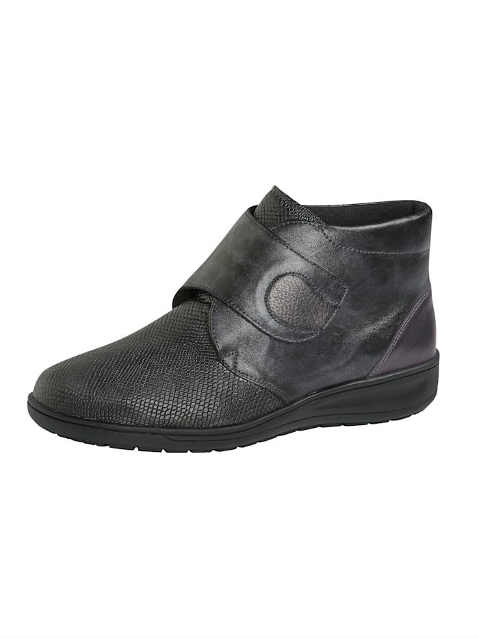 Solidus Klettstiefelette ideal für empfindliche Füße, Anthrazit