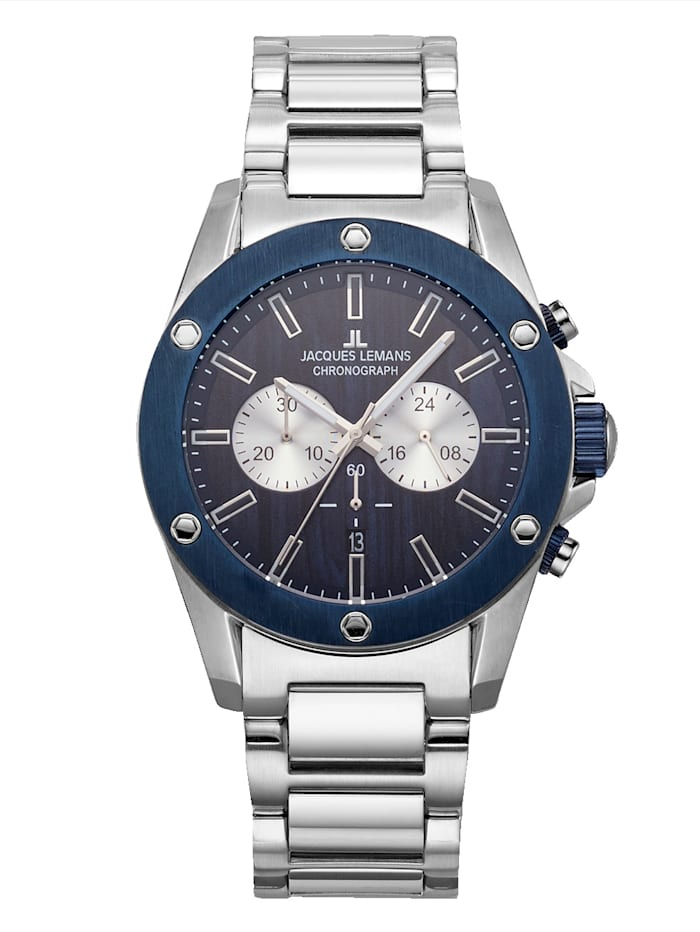 Jacques Lemans Herenchronograaf 1-1812F, Blauw