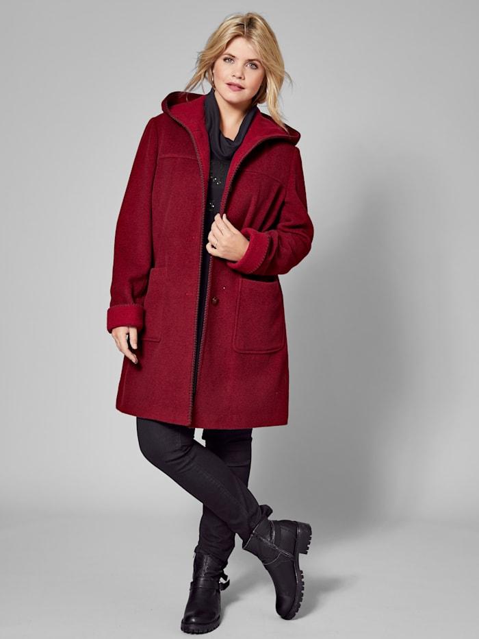 Wollen jas met capuchon