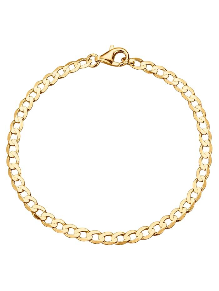 Bracelet maille gourmette en or jaune, Jaune