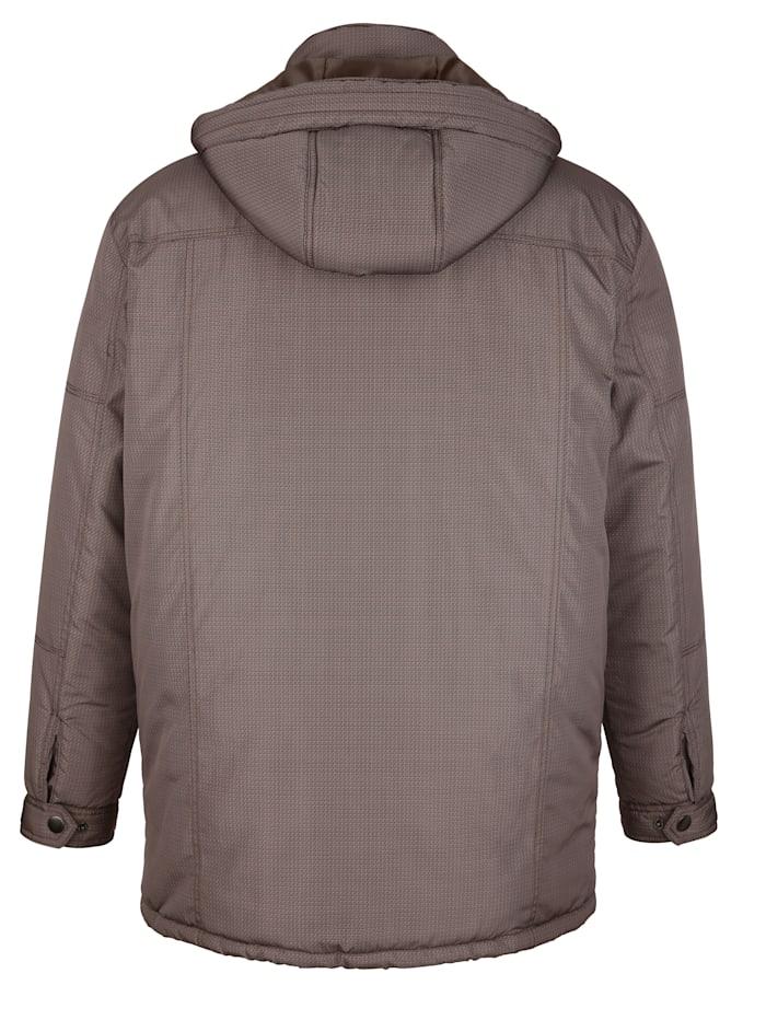 Veste longue à capuche amovible
