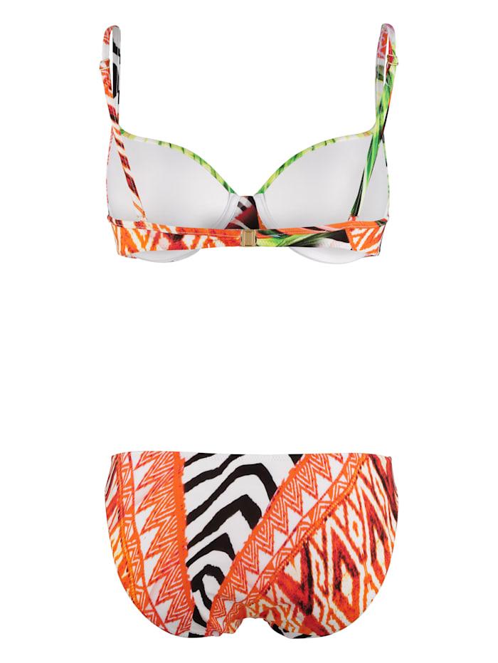 Bikini met tropische print
